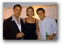 Randy, wife Kris and Fred Savage  » Click to zoom ->